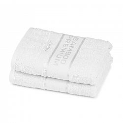 4Home Bamboo Premium uterák biela, 50 x 100 cm, sada 2 ks