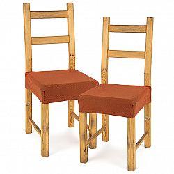 4home Multielastický poťah na sedák na stoličku Comfort terracotta, 40 - 50 cm, sada 2 ks