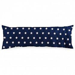 4Home Obliečka na Relaxačný vankúš Náhradný manžel Stars Navy Blue, 50 x 150 cm