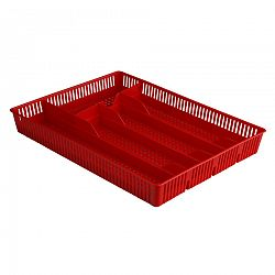 Altom Plastový príborník dierovaný 31 x 23 x 4,5 cm, červená