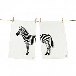 Butter Kings Kuchynská utierka Zebra, 50 x 70 cm, sada 2 ks