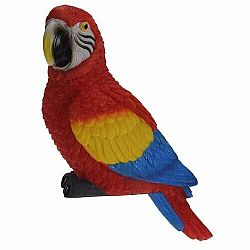 Dekoračný papagáj Ara arakanga, 7 x 10 x 18 cm