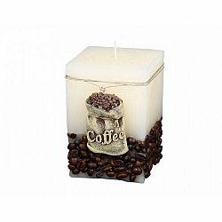 Dekoratívna sviečka Coffee Bag béžová, 10 cm