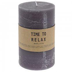 Dekoratívna sviečka Time to relax sivá, 15 cm
