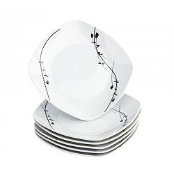 Domestic 6-dielna sada dezertných tanierov Londra, 19 cm