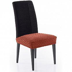 Forbyt Multielastický poťah na sedák na stoličku Martin terakota, 50 x 60 cm, sada 2 ks