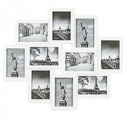 Fotorámček Sultan na 10 fotografií 10 x 15 cm, biela, 49 x 59 cm