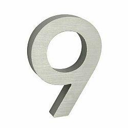 Hliníkové číslo 9 3D brúsený povrch RN.100LV.9.AL.3D