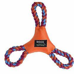 Hračka pre psov Dog rope, oranžová