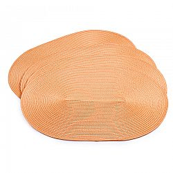 Jahu Prestieranie Deco ovál oranžová, 30 x 45 cm, sada 4 ks