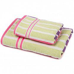 Jahu Sada Stripes Fine uterák a osuška, 70 x 140 cm, 50 x 90 cm