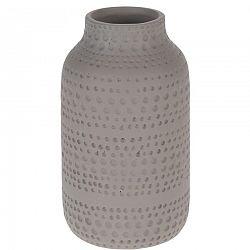 Koopman Keramická váza Asuan hnedá, 19 cm