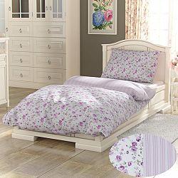 Kvalitex Bavlnené obliečky Provence Viento ružová, 140 x 200 cm, 70 x 90 cm