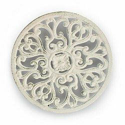 Litinová podložka pod hrnec Kruh, biela