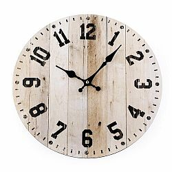 Nástenné hodiny Woody, 34 cm