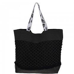 Plážová taška Croche, čierna