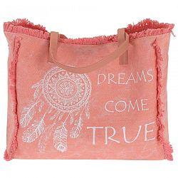 Plážová taška Dreams come true, ružová
