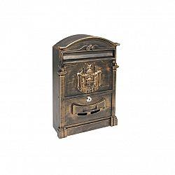Poštovní schránka RICHTER BK301 ZLATÁ, HNĚDÁ, ČERNÁ Zlatá prášková