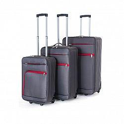 Pretty UP Sada cestovných textilných kufrov TEX01 3 ks, sivá