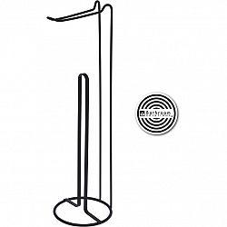 Stojan na toaletný papier Bathroom solutions čierna, 15 x 54 cm