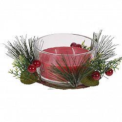 Sviečka v skle Merry Candle 185 g, červená